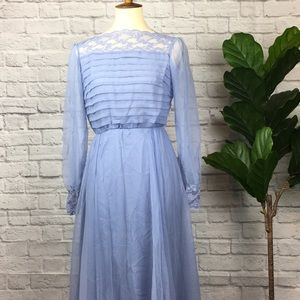 Vintage Powder Blue Miss Elliette dress Chiffon